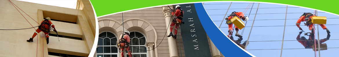 rope access cleaning in dubai & abu dhabi